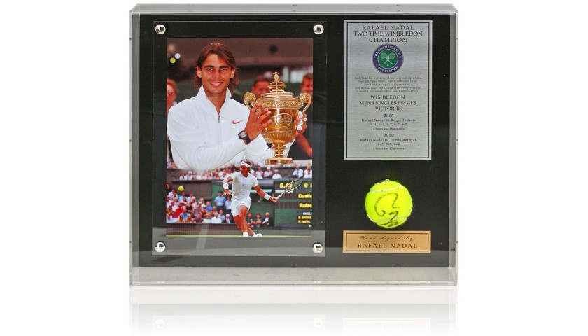 Rafael Nadal Hand Signed Tennis Ball