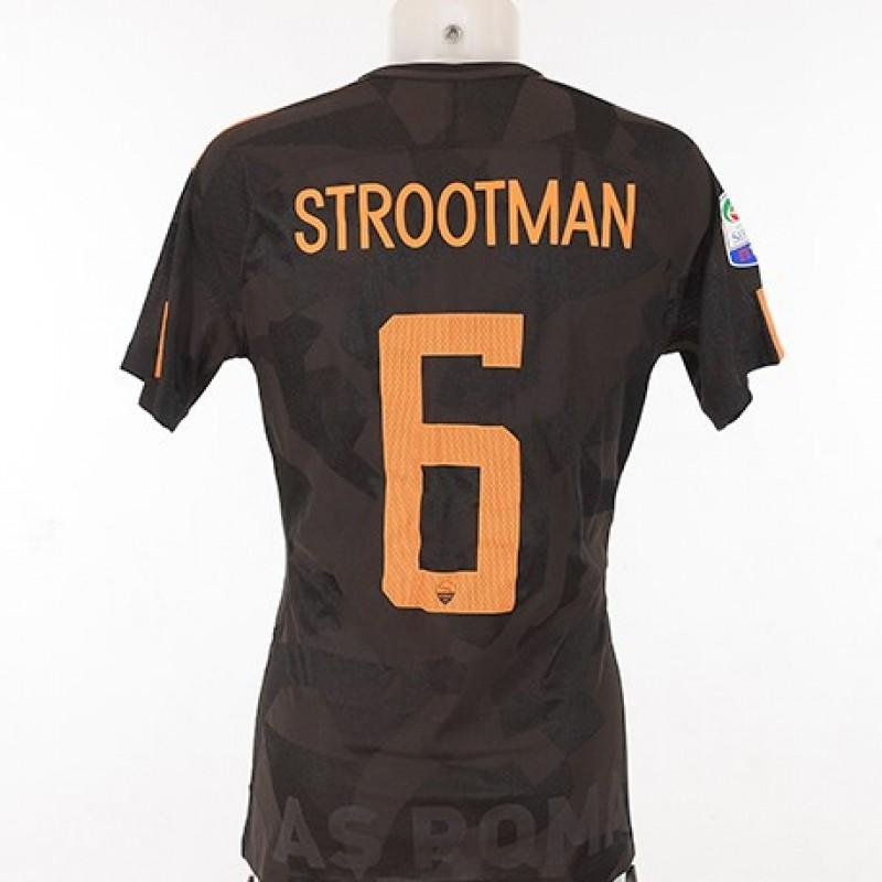 Strootman Napoli-Roma 2017/18 Worn Shirt