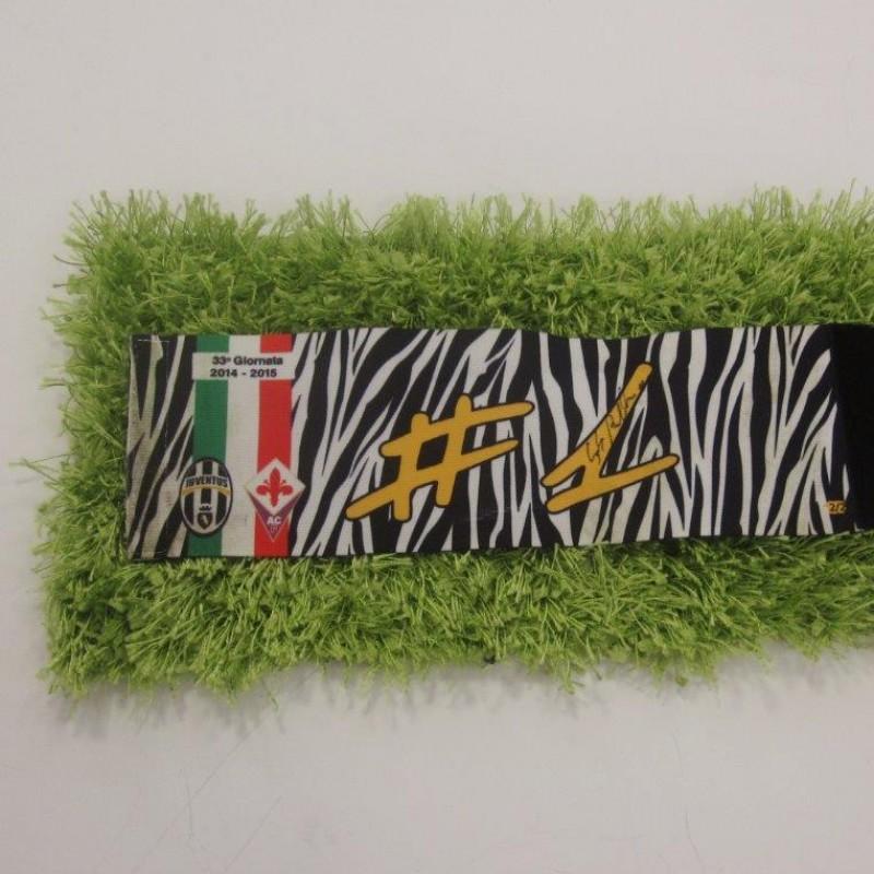 Buffon's worn and signed Captain's armband, Juventus-Fiorentina