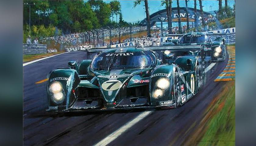 """Print """"Bentley Invincible – Le Mans 2003"""" by Nicholas Watts"""