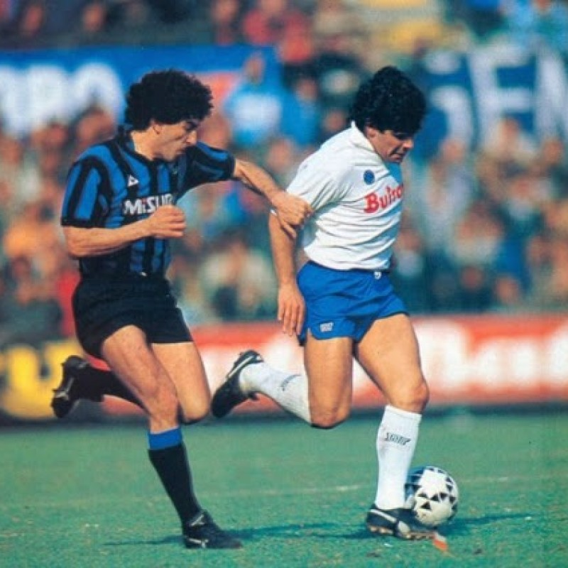 Maradona's Napoli Signed Match Shorts, 1986/87