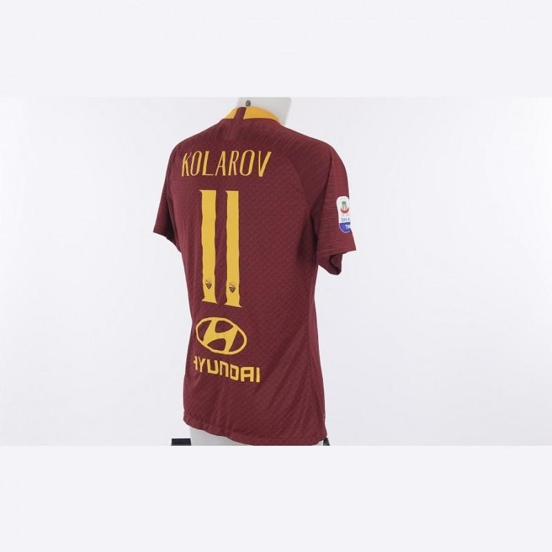 Kolarov's Worn Roma-Atalanta 2018/19 Shirt