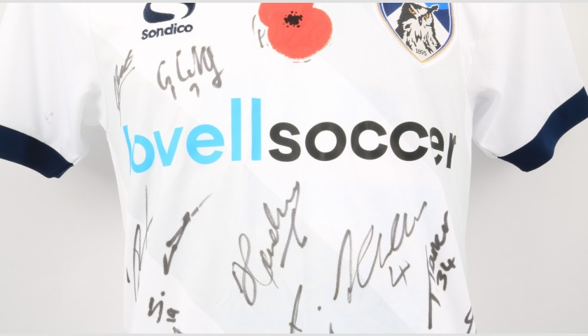 Oldham Athletic Official Poppy Shirt Signed by the Team