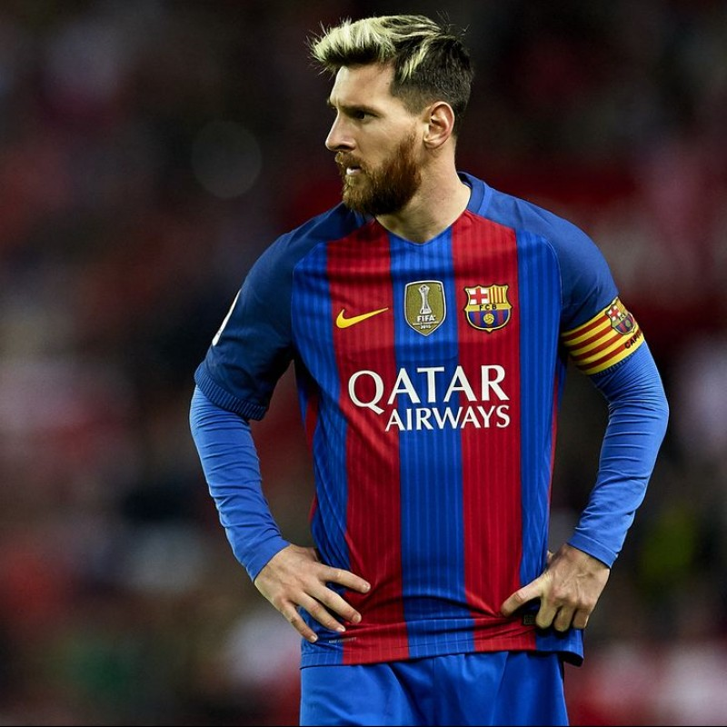Messi's Barcelona Match Shirt, Liga 2016/17