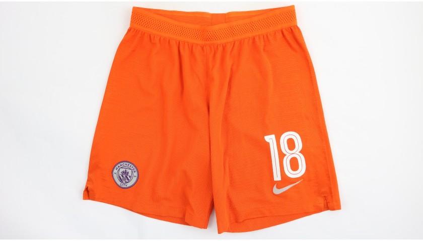 Delph's Manchester City Match Shorts, Champions League 2018/19