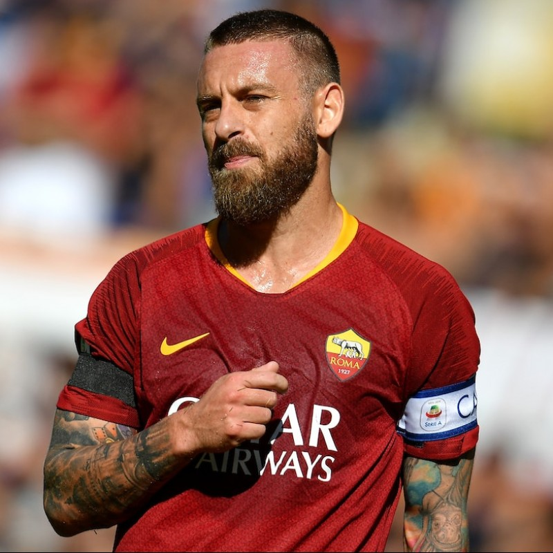 De Rossi's Authentic Roma Signed Shirt, 2018/19