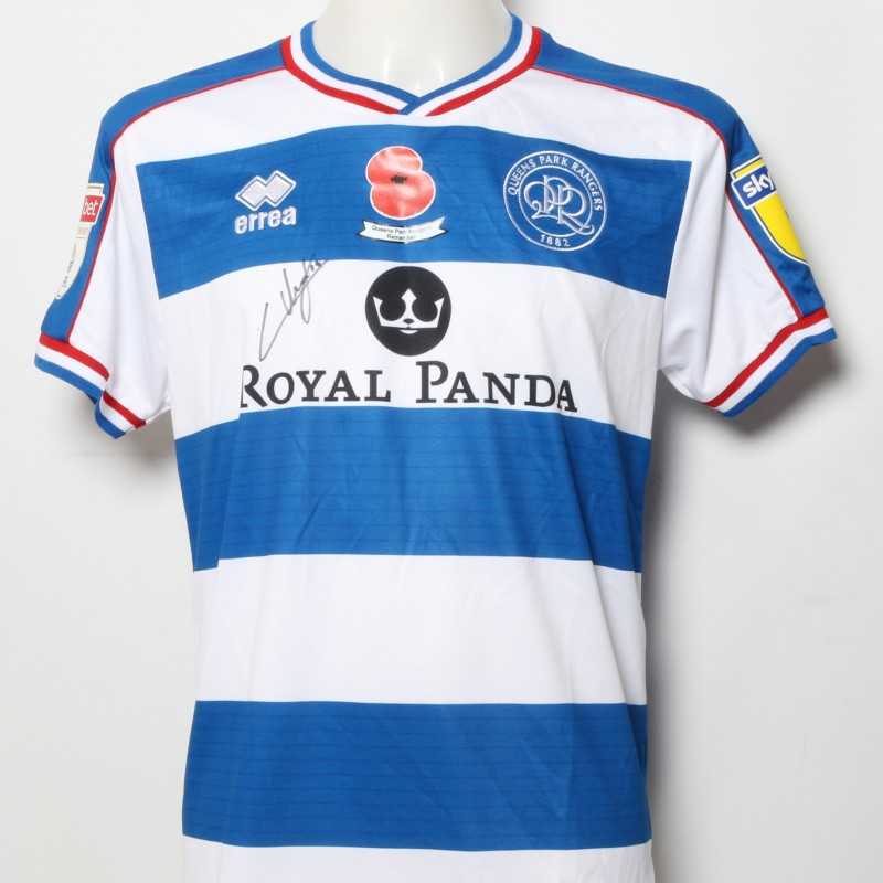 Ilias Chair's Queens Park Rangers Signed Home Poppy Shirt