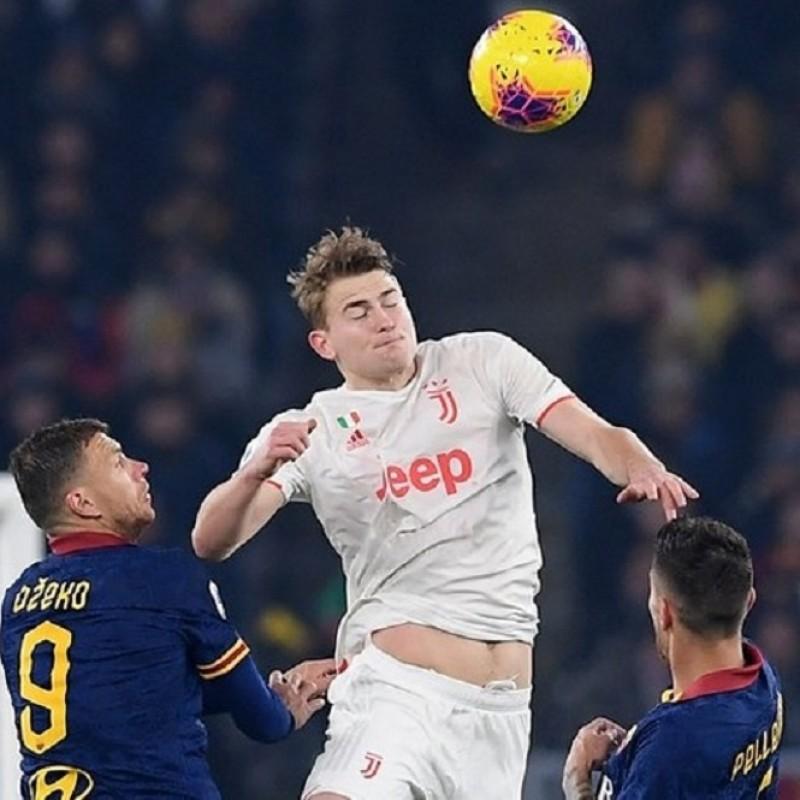 Maglia Gara De Ligt, Roma-Juventus 2019/20 - Autografata