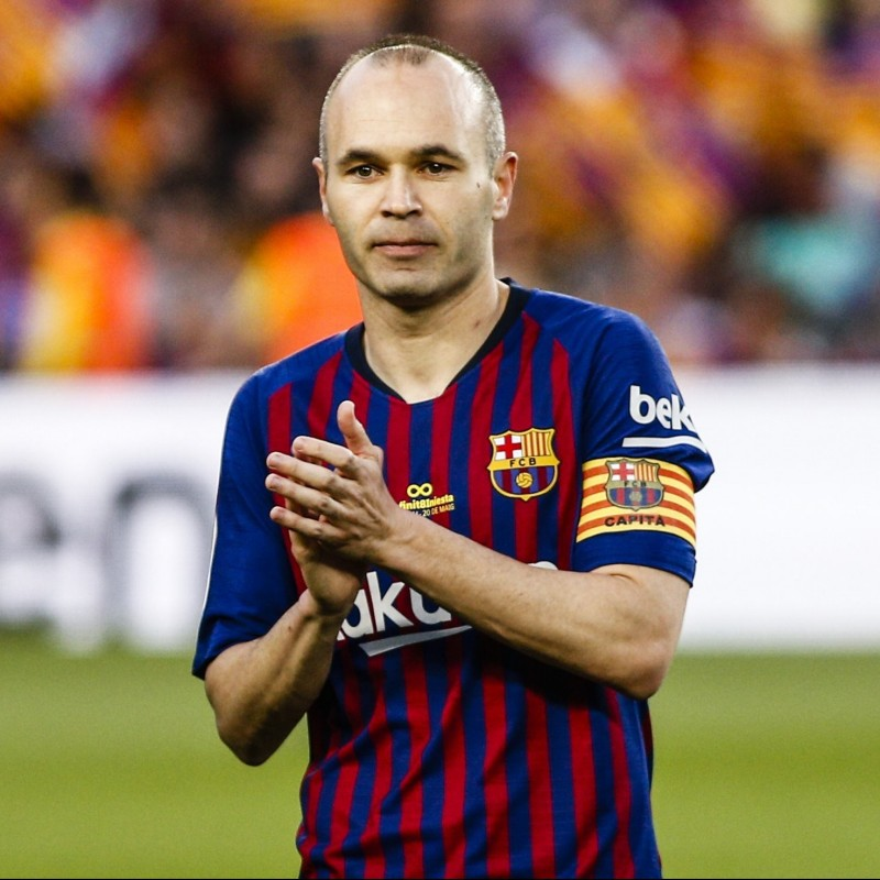 Iniesta's Barcelona Match-Issue 'Last Match' Shirt, 2018