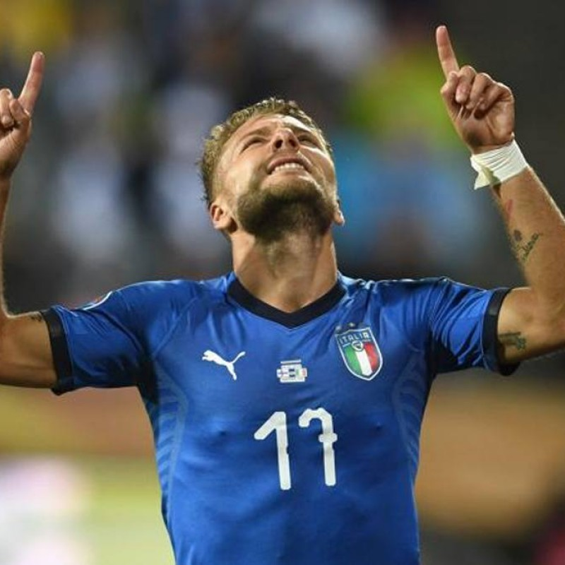 Immobile's Official Italy Shirt, 2018 - Signed by Immobile and De Rossi
