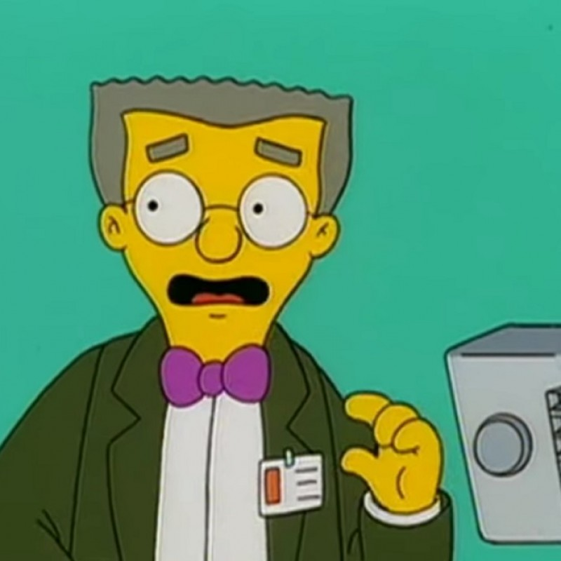 The Simpsons - Original Drawing of Waylon Smithers