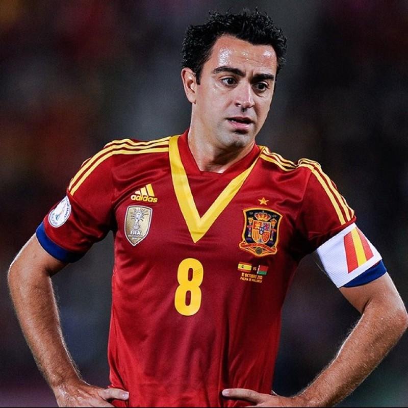 Xavi's Spain Signed Match Shirt, 2012/13