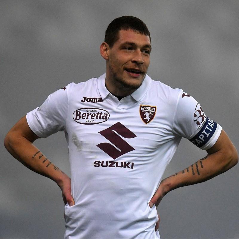 Belotti's Torino Signed Match Shirt, 2020/21