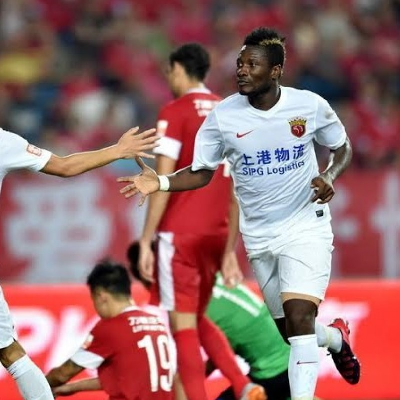 Gyan's Shangai SIPG Match-Issue/Worn Shirt, 2016