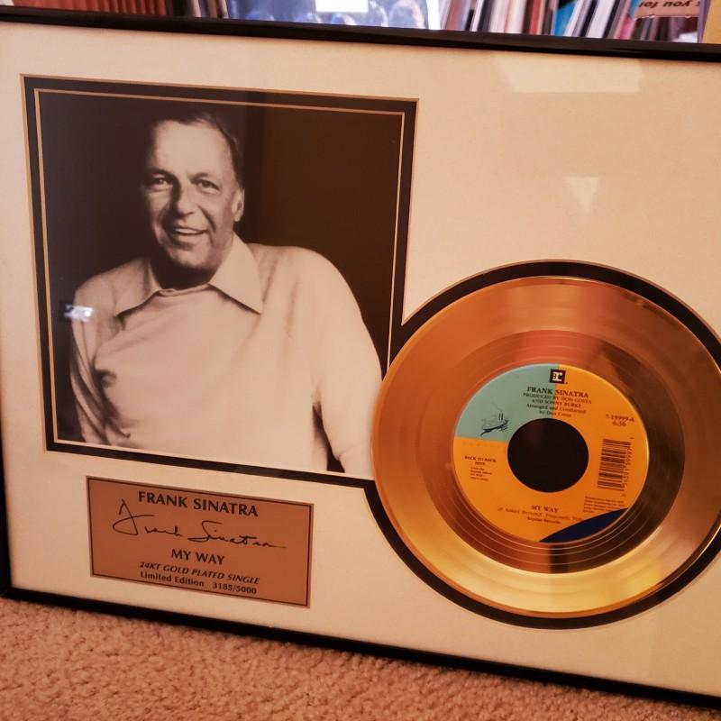 "Frank Sinatra ""My Way"" Gold Record Display"