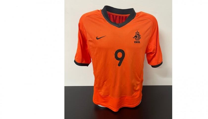Kluivert's Official Netherlands Signed Shirt, 2000/01