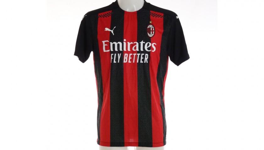 Tomori's Worn and Signed Shirt, Milan-Inter 2021