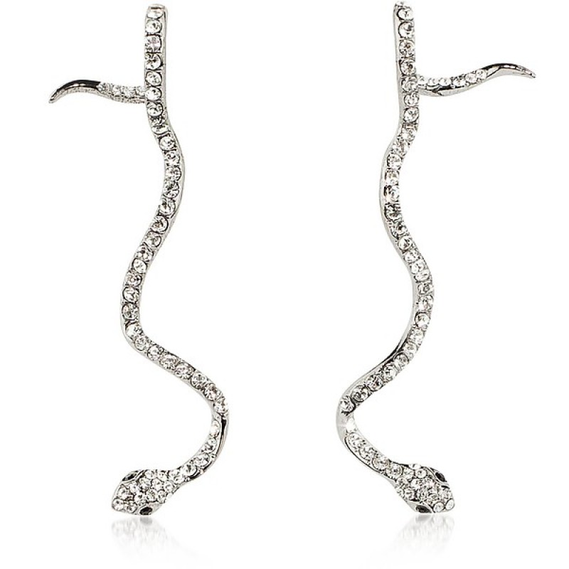 """Long Snake"" Earrings by Federica Tosi"