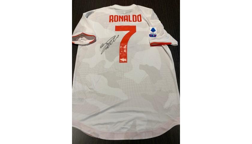 Ronaldo's Juventus Signed Match Shirt, 2019/20