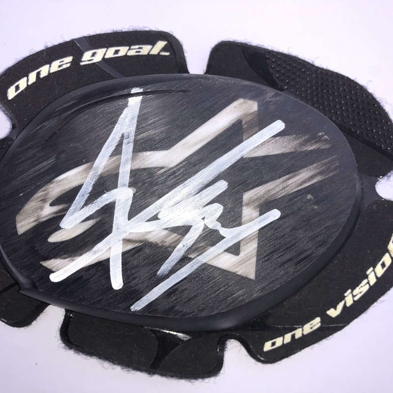 Signed Marc Marquez Knee Slider from Qatar Test