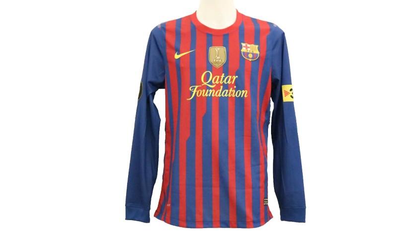 c96a03dfd4b Pique's Match-Issue/Worn Shirt, Copa del Rey 2012 Final - CharityStars