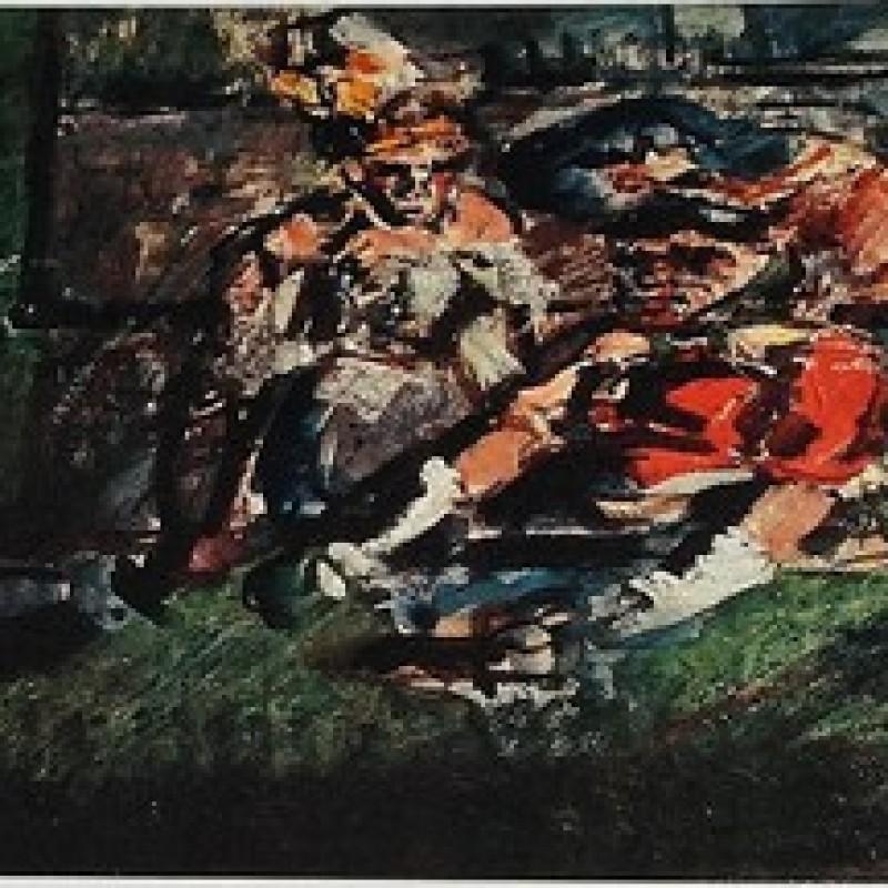 """Cassiere del circo ambulante"" Original Lithograph by Georges Rouault"