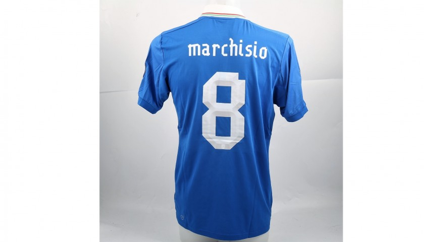 Marchisio's Match-Worn Italia-Malta Shirt, World Cup Qualifiers 2014
