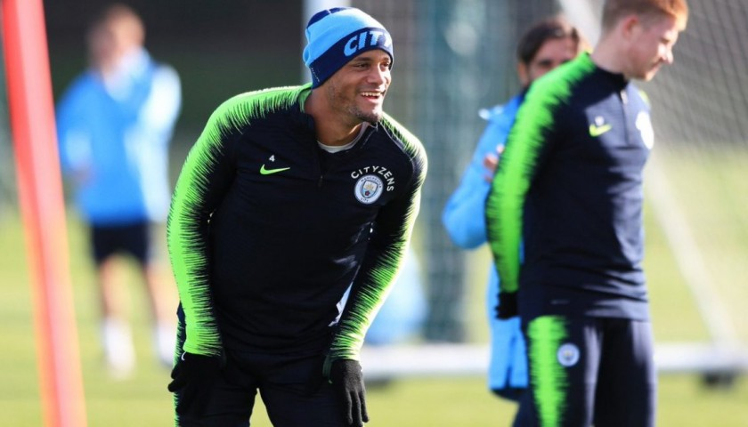 Official Technical Training Trousers Worn by Vincent Kompany