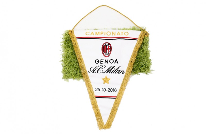 Official Serie A 2016/17 Season Pennant of the Genoa-Milan Match