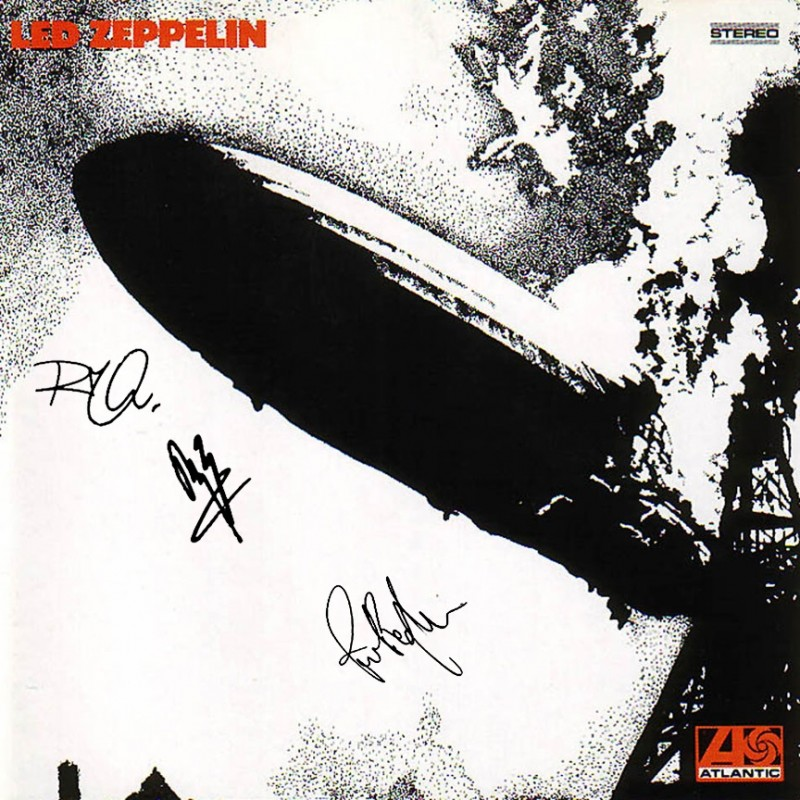 Led Zeppelin Record with Printed Signatures