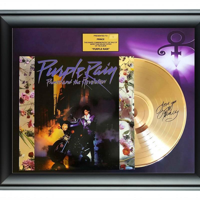 "Prince ""Purple Rain"" Custom Framed Gold Record Display"