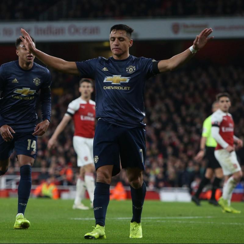 Alexis Sanchez's Match Shirt, Arsenal-Man Utd 2019