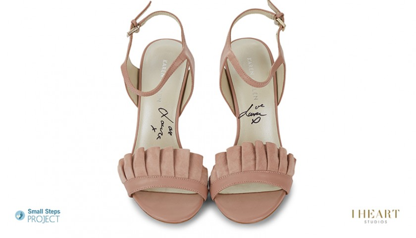 Laura Whitmore Signed Shoes