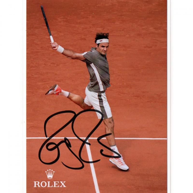 Official Roger Federer Signed Postcard
