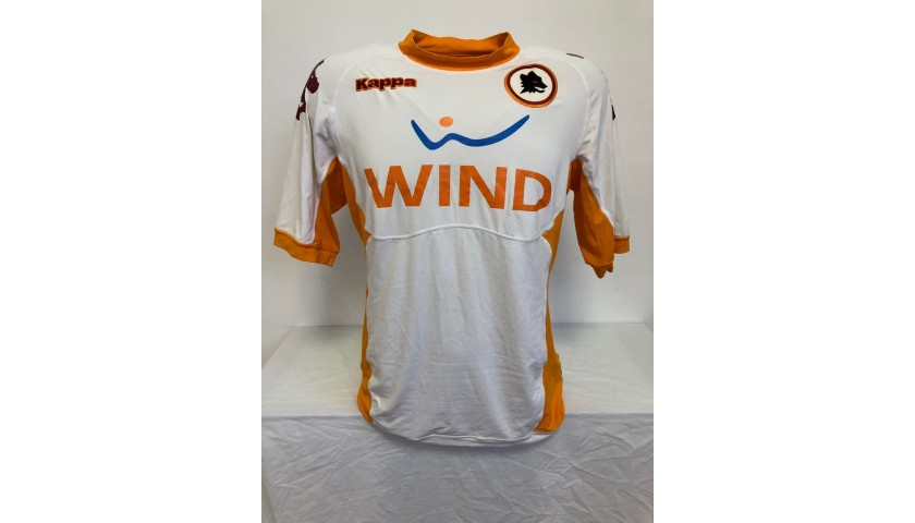 Totti's Signed Match Shirt, PSG-Roma 2010