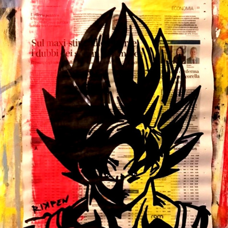 """Goku"" Original Board by Riccardo Penati"