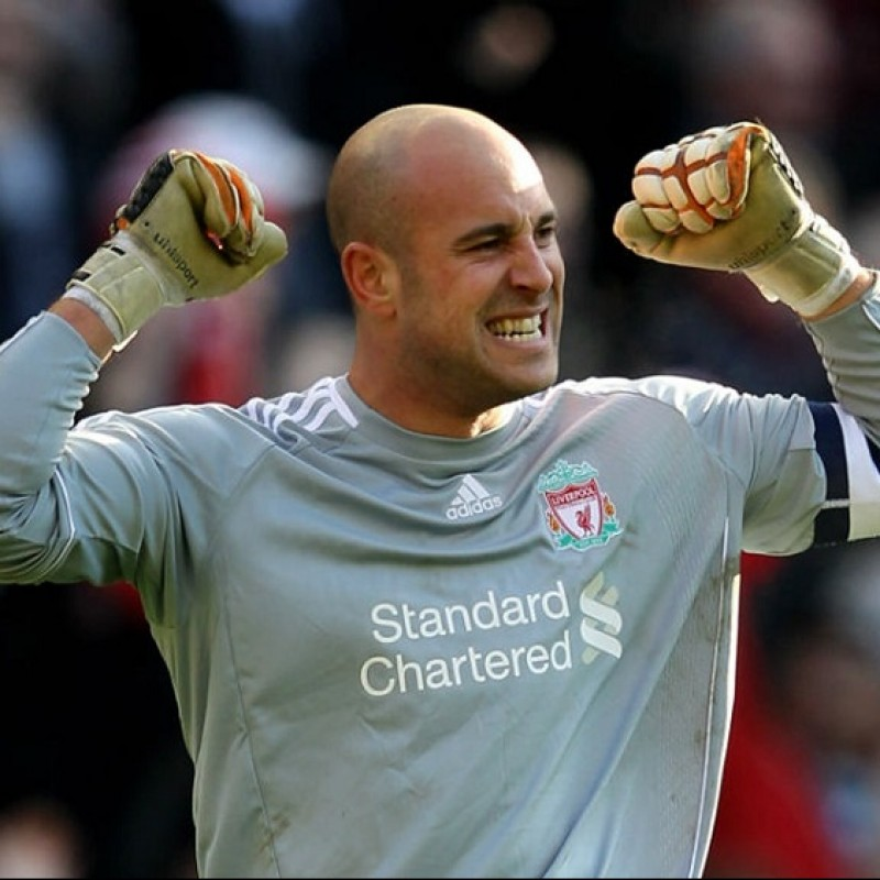 Reina's Liverpool Signed Match Shirt, 2011/12