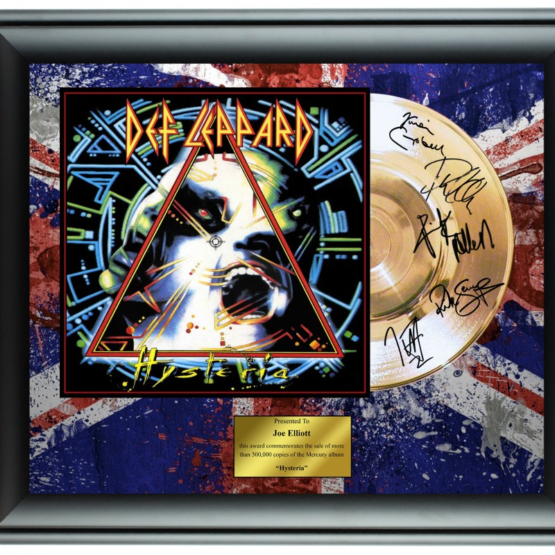 Def Leppard Custom Framed Gold Record Display
