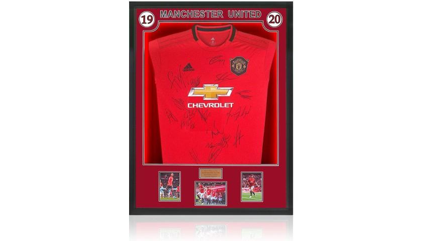 Manchester United 2019 20 Season Squad Signed Shirt With Led Lighting Charitystars