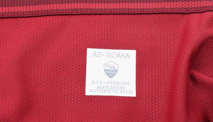 Salah's 2016/17 Match-Issued/Worn Lazio-Roma Tim Cup Semifinal Shirt