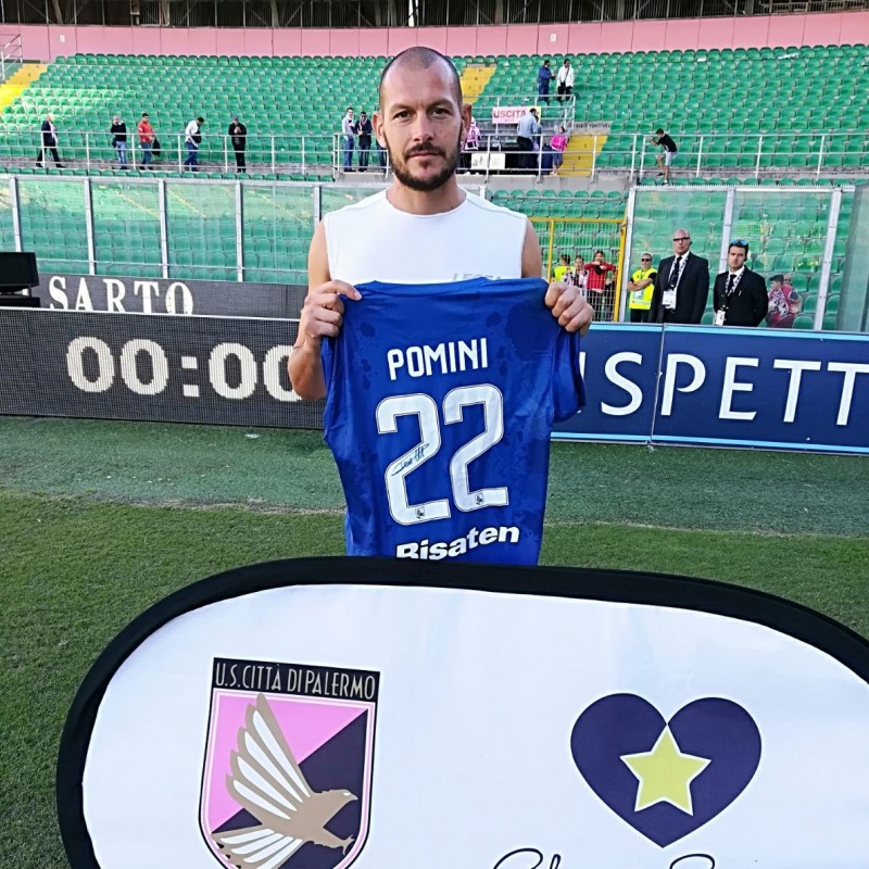 Pominis' Match-Worn and Signed Shirt from Palermo-Parma 2017/18