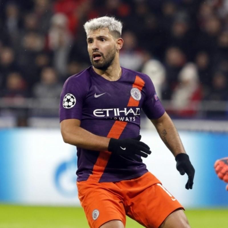 Aguero's Manchester City Match Shorts, Champions League 2018/19