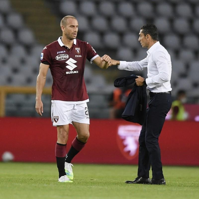 De Silvestri's Worn Shirt, Torino-Lazio 2020