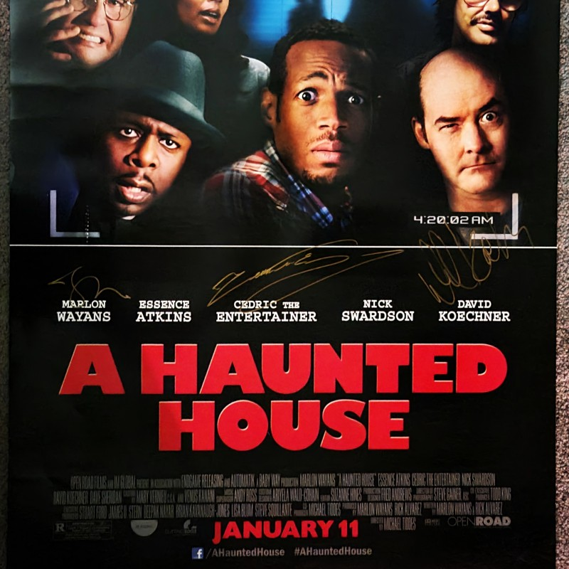 A Haunted House Signed Movie Poster