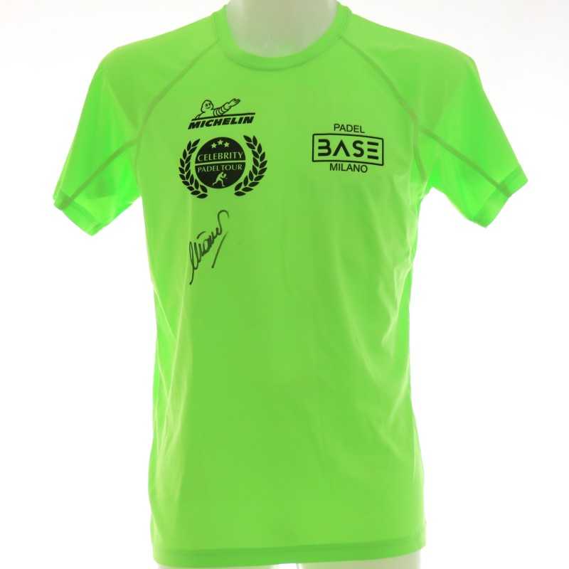 Official Michelin Celebrity Padel Tour T-Shirt Signed by Mino Taveri