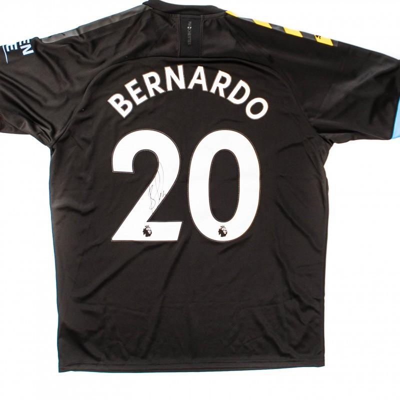 Manchester City PUMA 2019/20 Signed Bernardo Silva Away Shirt