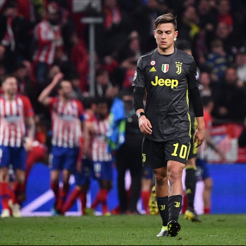 Dybala's Worn and Unwashed Shirt, Atletico Madrid-Juventus 2019