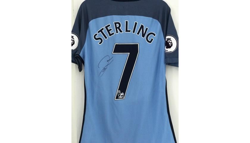 Raheem Sterling 2016 Signed Poppy Shirt