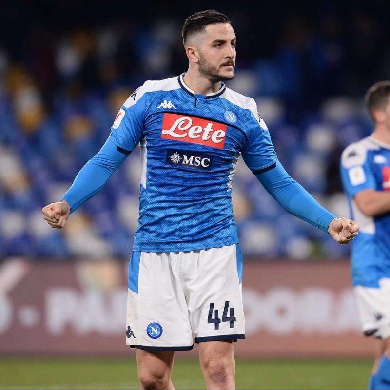 Manolas' Official Napoli Signed Shirt, 2019/20