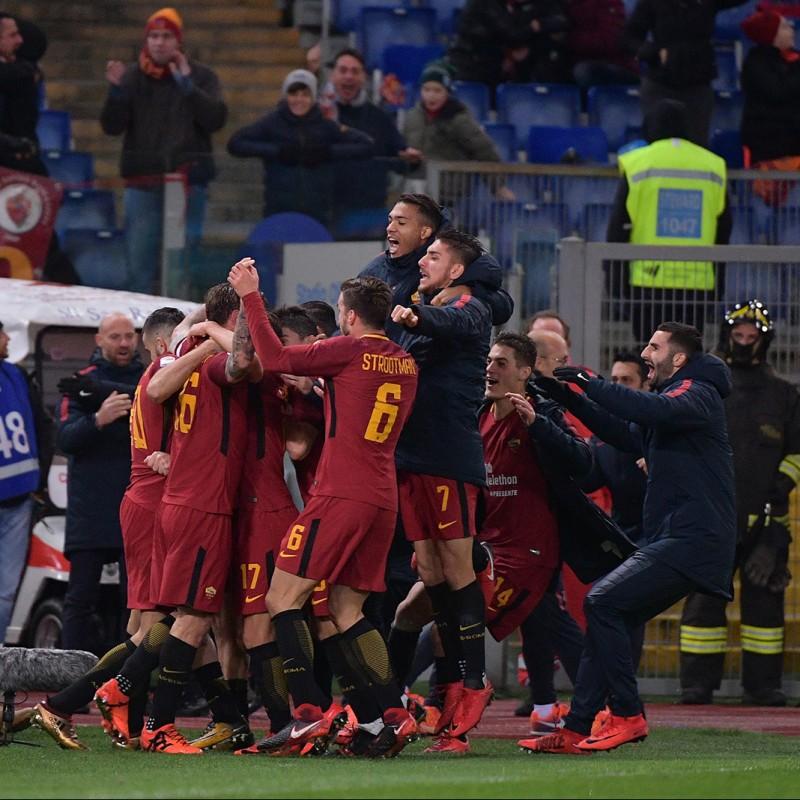 Moreno's Match-Worn Roma-Cagliari Shirt, Special Sponsor Telethon